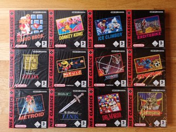 Excitebike NES Classics 4! Inplastat! SCN, Bergsala! Game Boy Advance