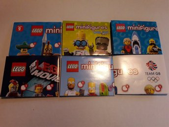Lego CMF Manualer 2,14,17,The Movie,Simpsons,Team GB NYA