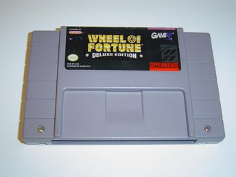 Wheel of Fortune Deluxe Edition Super Nintendo SNES Amerikanskt USA NTSC