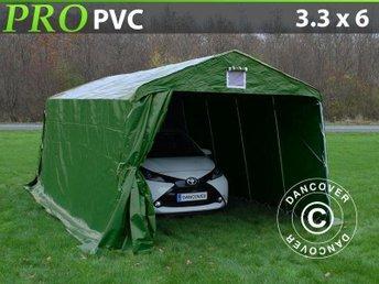 Garagetält 3,3x6x2,4 PVC Lagertält Tälthall Förvaringstält - Hellebæk - Garagetält 3,3x6x2,4 PVC Lagertält Tälthall Förvaringstält - Hellebæk