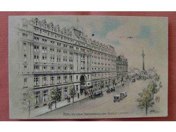 England London Hotel Victoria tecknat fr 1930 - Stockholm - England London Hotel Victoria tecknat fr 1930 - Stockholm