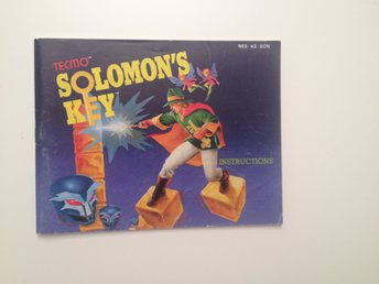 SOLOMONS KEY - Nintendo Nes- Manual - SCN