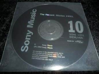 Sony Music SOHE1001 - The Record. Hösten 1993/PROMO