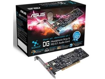 ASUS Soundcard Xonar DG PCI 5.1 Channel SPDIF-Out Line in/Mic in Aux-In LP-Brack