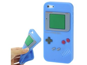 iPhone 5/5S Silikonskal Game Boy Bl?