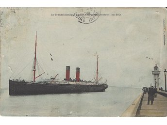 "French Liner "" LA CHAMPAGNE """