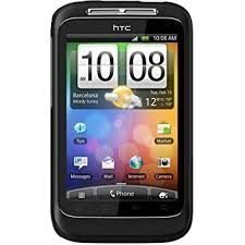 HTC Wildfire, med silicon case