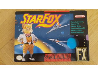 Starfox till SNES USA import