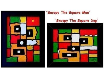 2 Tavlor - Snoopy The Square Man ...And Dog - Tommie Olofsson
