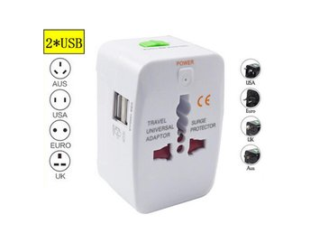 USB Charger Universal World Plug Travel Adapter Converter With Dual AU/US/UK/EU