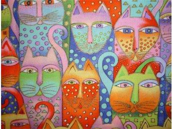 Laurel Burch: läckra katter till lapptäcke, kudde, väska - Hässelby - Laurel Burch: läckra katter till lapptäcke, kudde, väska - Hässelby