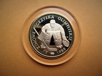 Poland, 500 zlotych, 1987 Ice hockey goalie.