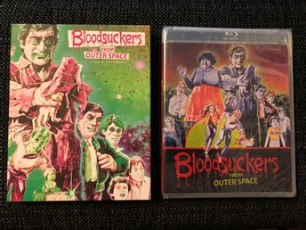BLOOD SUCKERS FROM OUTER SPACE  (1984, VINEGAR, LIMITED SLIPCOVER, BLU-RAY) OOP