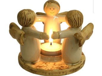 Ceramic Angel Tealight Holder