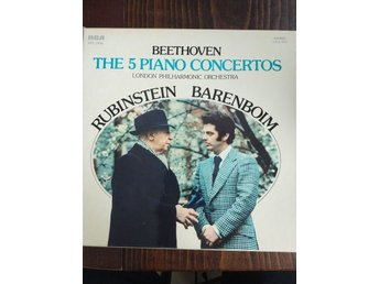 BEETHOVEN THE 5 PIANO CONCERTOS LONDON PHILHARMMONIC ORCHESTRA  1975