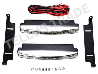 DRL Power LED Daytime Running Light 12V 8x1LED