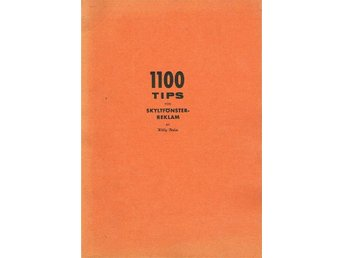 1100 Tips för Skyltfönster-Reklam - Finsta, Roslagen - 1100 Tips för Skyltfönster-Reklam - Finsta, Roslagen