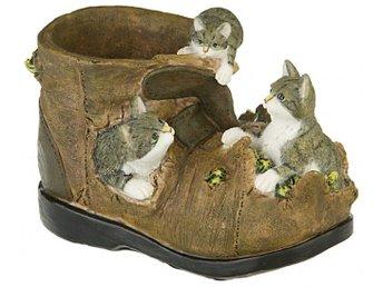 Sko med katter Blomkruka - örebro - Sko med katter Blomkruka - örebro