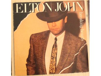 LP Vinyl Elton John Breaking hearts år 1984