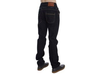 ACHT - Blue Cotton Regular Straight Fit Jeans
