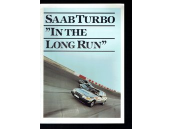 Saab broschyr - Saab turbo in the long run - 11 nr sidor
