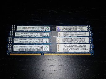 64GB (4x16GB) DDR3-1600MHz ECC Registered (PC3L-12800R)