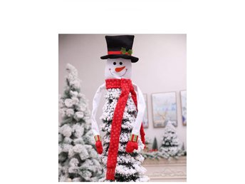 Snowman Top Hat Christmas Tree Topper Decorations Holiday Winter Decoration