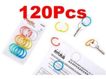 10Sets!NY! 120Pcs Koreanska Plastic key locker Ring