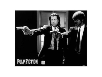 Pulp Fiction Miniaffisch B&w Guns M133