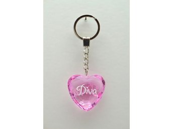 Diamond keyring Diva