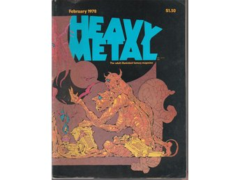 HEAVY METAL ADULT FANTASY MAGAZINE FEBRUARY 1978