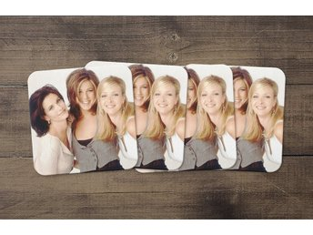 Friends Jennifer Aniston Courney Cox Lisa Kudrow Coasters 4 Pack Underlägg