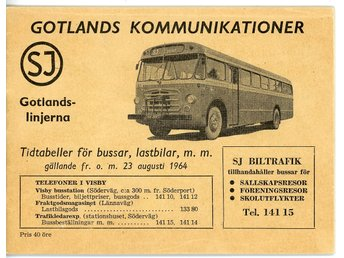 Gotlands kommunikationer SJ 1964