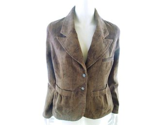 DIDI Blazer Size L Brown 100% Cotton Pockets Grill