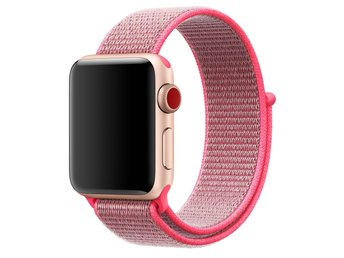 Nylon Loop 42mm Apple Watch Armband - (HOT PINK)