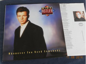 RICK ASTLEY - Whenever you need somebody, LP RCA Tyskland 1987 Toppskick!