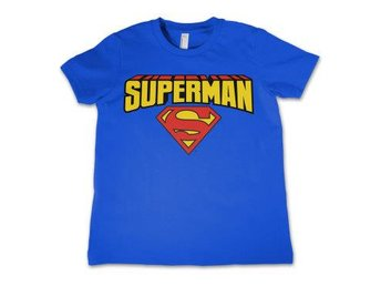 Superman T-shirt Blockletter Barn 6 år