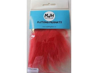 Flugfiske Flugbindning Temple hair Red