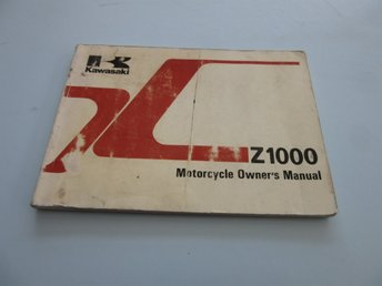 Kawasaki Z1000 1981 Owners Manual