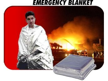NY!Emergency Survival Solar Thermal Rescue Blanket Silver