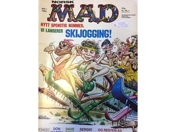 MAD Norsk  Nr 1 1982- Fint skick!