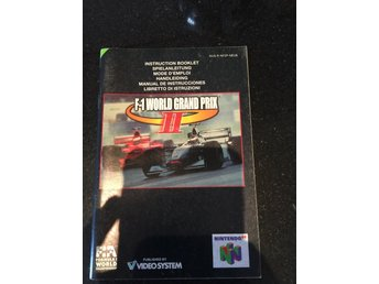 F1 world grand prix 2 Nintendo 64 manual