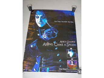 ALICE COOPER - ALONG CAME A SPIDER IN STORE PROMO POSTER ( 90 x 60 cm )