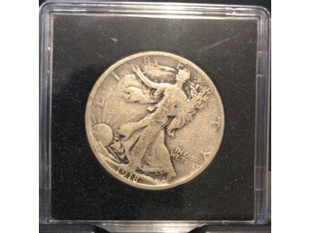 1918 Walking liberty Half Dollar  90% silver
