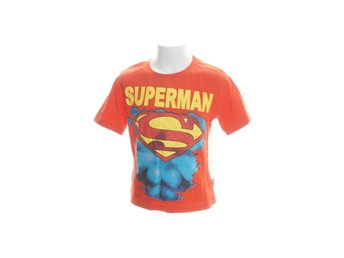 Superman, T-shirt, Strl: 122, Röd/Gul