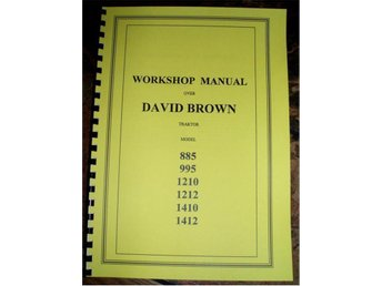 Verkstadshandbok David Brown / CASE Traktorer 885, 995, 1210, 1212, 1410, 1412