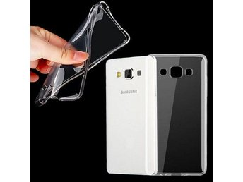 Galaxy A7 silikon skal transparent Färg: Transparent