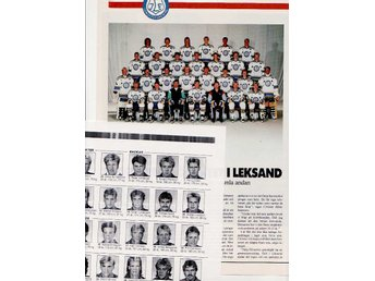 Leksands IF, lagbild från 1988.