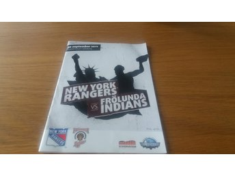 Frölunda Indians - New York Rangers 2011 Program