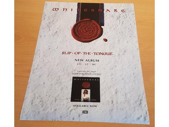 DEEP PURPLE WHITESNAKE SLIP OF THE TOUNGE 1989 POSTER